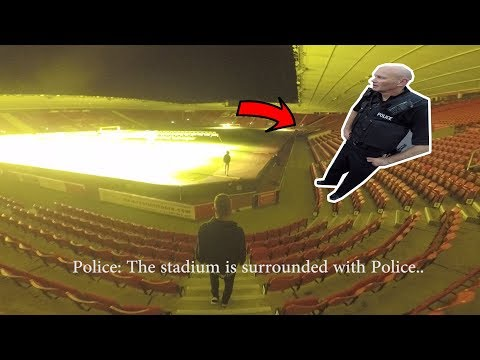 POLICE ESCAPE IN STADIUM! *WE GOT AWAY*