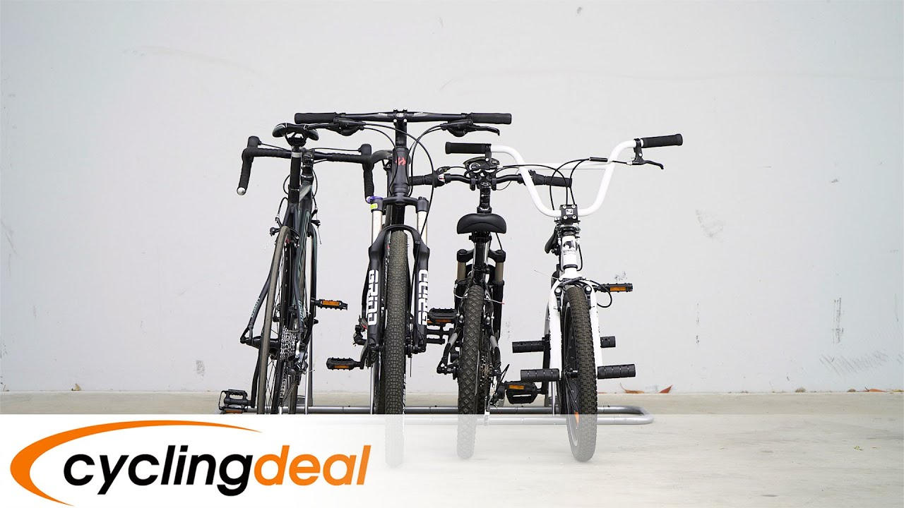How To Use Cyclingdeal Cb 618 4a 1 4 Bike Floor Parking Rack