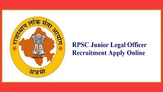 Rajasthan Public Service Commission (RPSC) | Junior Legal Officer (JLO)