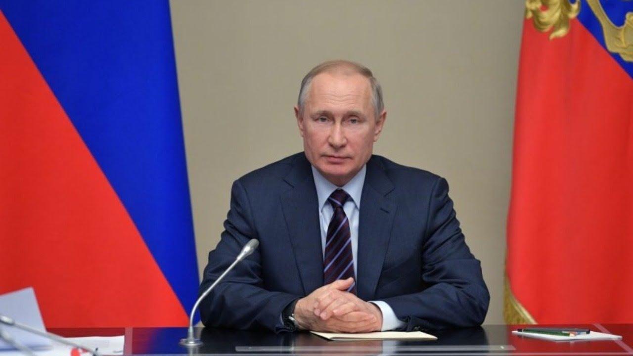 Владимир Путин принимает участие в совещании о мерах по борьбе с коронавирусом. Полное видео