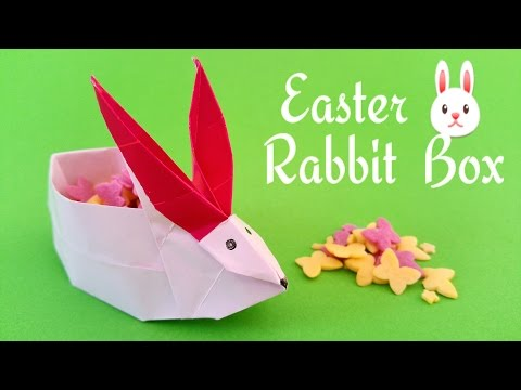 Origami Instructions, Video Tutorial: Easter Origami Rabbit Box | 360x480