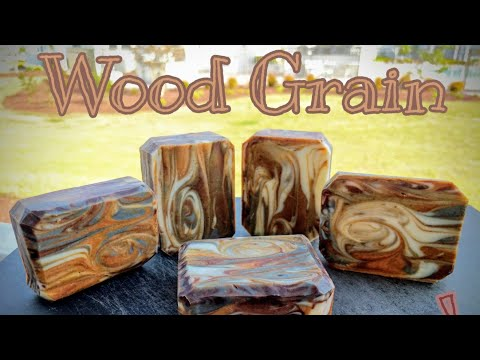 My First Time Making Woodgrain Soap