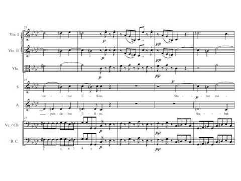 Pergolesi  Stabat Mater I - Stabat Mater Dolorosa. Duet. Partitura. Audición.