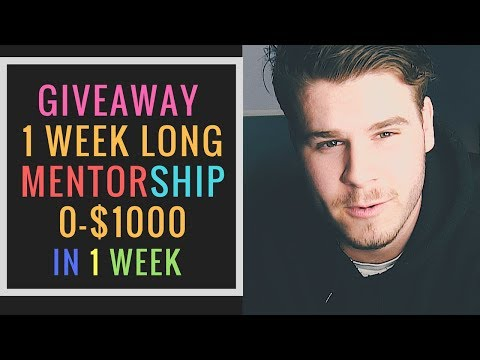 MENTOR WITH ME 0 - $1000 IN A WEEK FREE STUDENT GIVEAWAY thumbnail