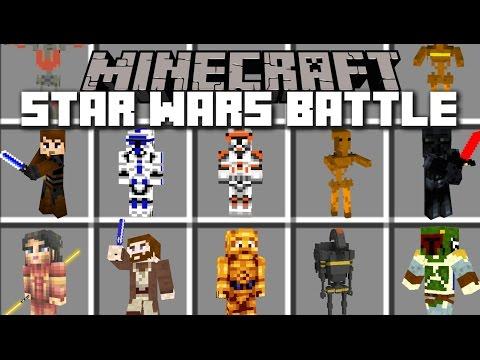 Minecraft STAR WARS BATTLE MOD / FIGHT IN THE GEONOSIS ARENA!! Minecraft