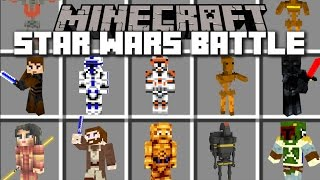Minecraft STAR WARS BATTLE MOD / FIGHT IN THE GEONOSIS ARENA!! Minecraft