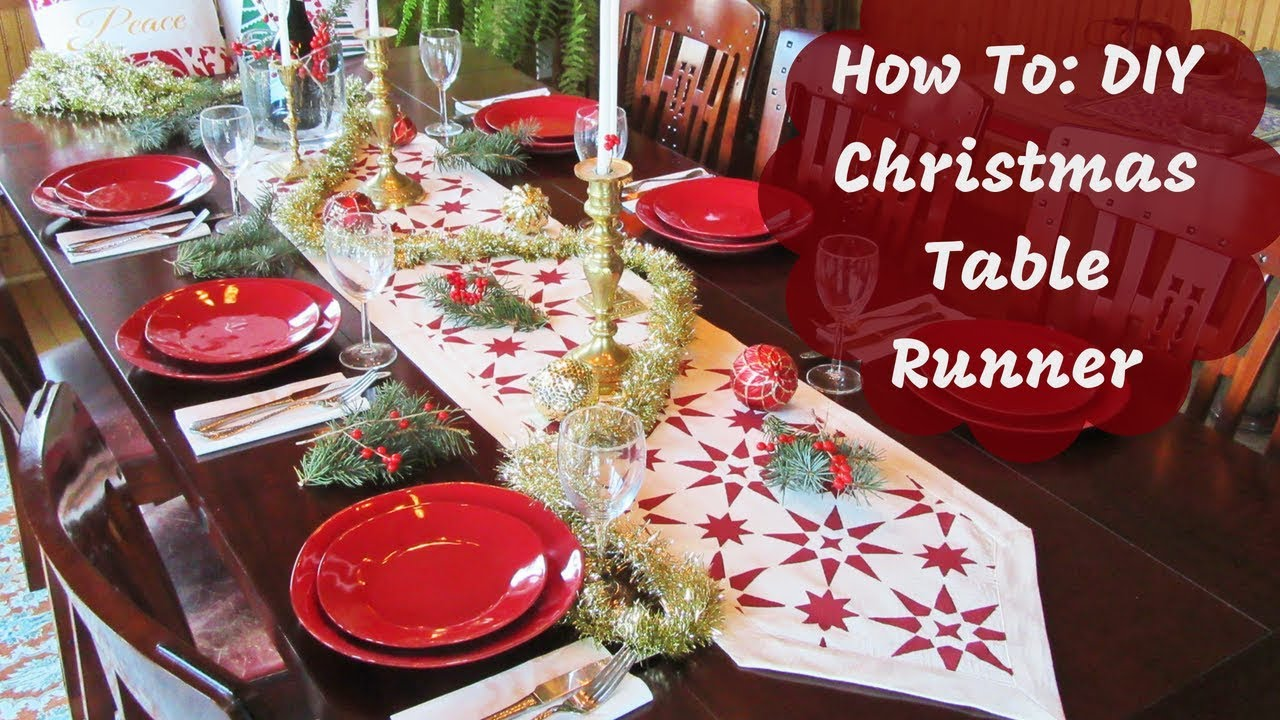 Christmas Table Runner Diy.Create A Diy Table Runner Using A Stencil In Minutes
