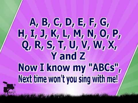 Karaoke for kids   ABC Alphabet Song   with backing melody