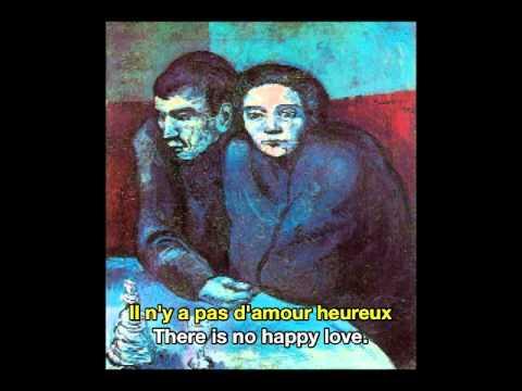 georges brassens il n y a pas d amour heureux french english subtitles