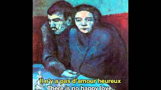 Georges Brassens Il N'Y A Pas D'Amour Heureux French & English Subtitles
