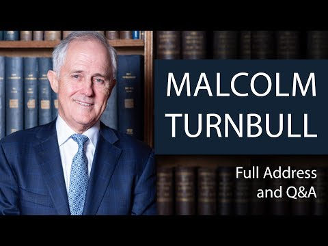 Malcolm Turnbull | Full Address and Q&A | Oxford Union