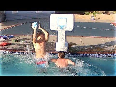 EPIC 1V1 MINI HOOP POOL BASKETBALL VS JESSER!