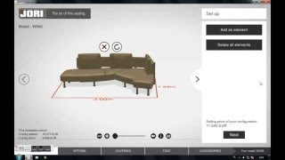 Furniture configurator JORI - part 3