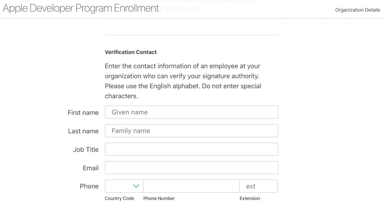 Apple Developer Enrollment Walkthrough