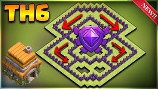 INSANE TOWN HALL 6 TROPHY BASE DESIGN 2017-Clash Of Clans