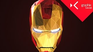 How to Make an Iron Man Low Poly Effect - Turorial | Adobe Photoshop CC 2015 - GraphixTV