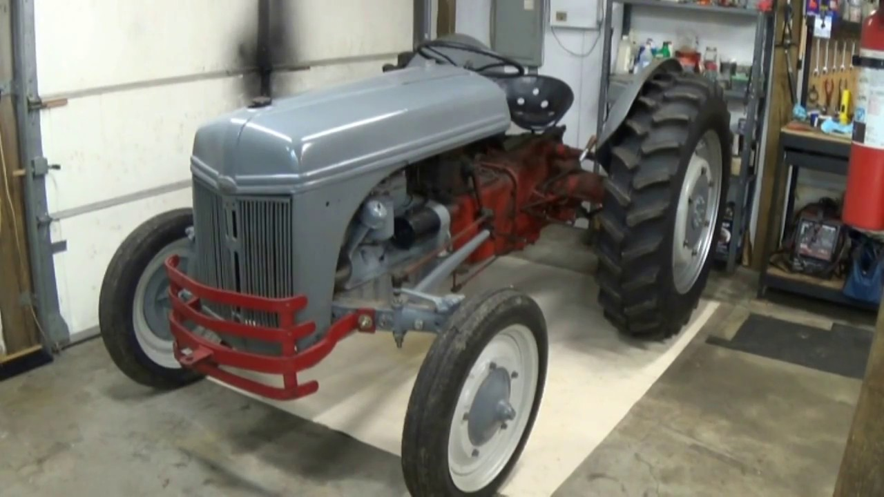 Restored Ford 9n : Ford n drivetrain hydraulic restoration part youtube