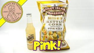 Coney Island Classics Popcorn With Himalayan Pink Salt & Limonitz Ginger Soda