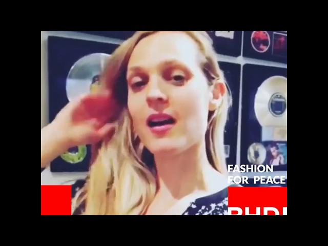 Watch Camille Waldorf's message on Fashion for Peace