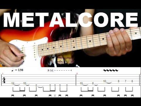 Смотреть клип Урок на электрогитаре | Как играть крутой гитарный риф в стиле Металкор онлайн бесплатно в качестве