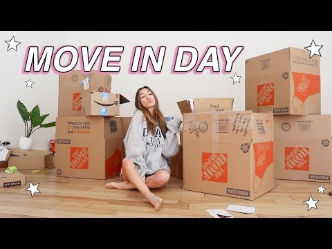 MOVE WITH ME Ep.5 // MOVE IN DAY!!! Unpacking!!