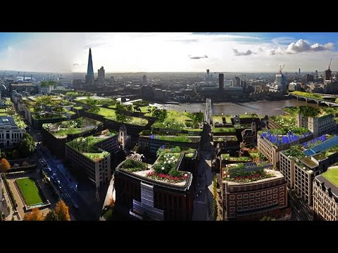 London becomes a Roof Garden City with green living roofs, sky gardens and sustainable sky parks