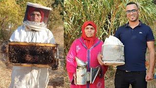 لي بغا العسل يصبر لقريص النحل😂 لالة حادة بمزرعة النحل