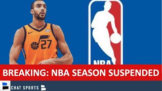 BREAKING NEWS: NBA Season Suspended Due To Coronavirus   Rudy Gobert Tests Positive