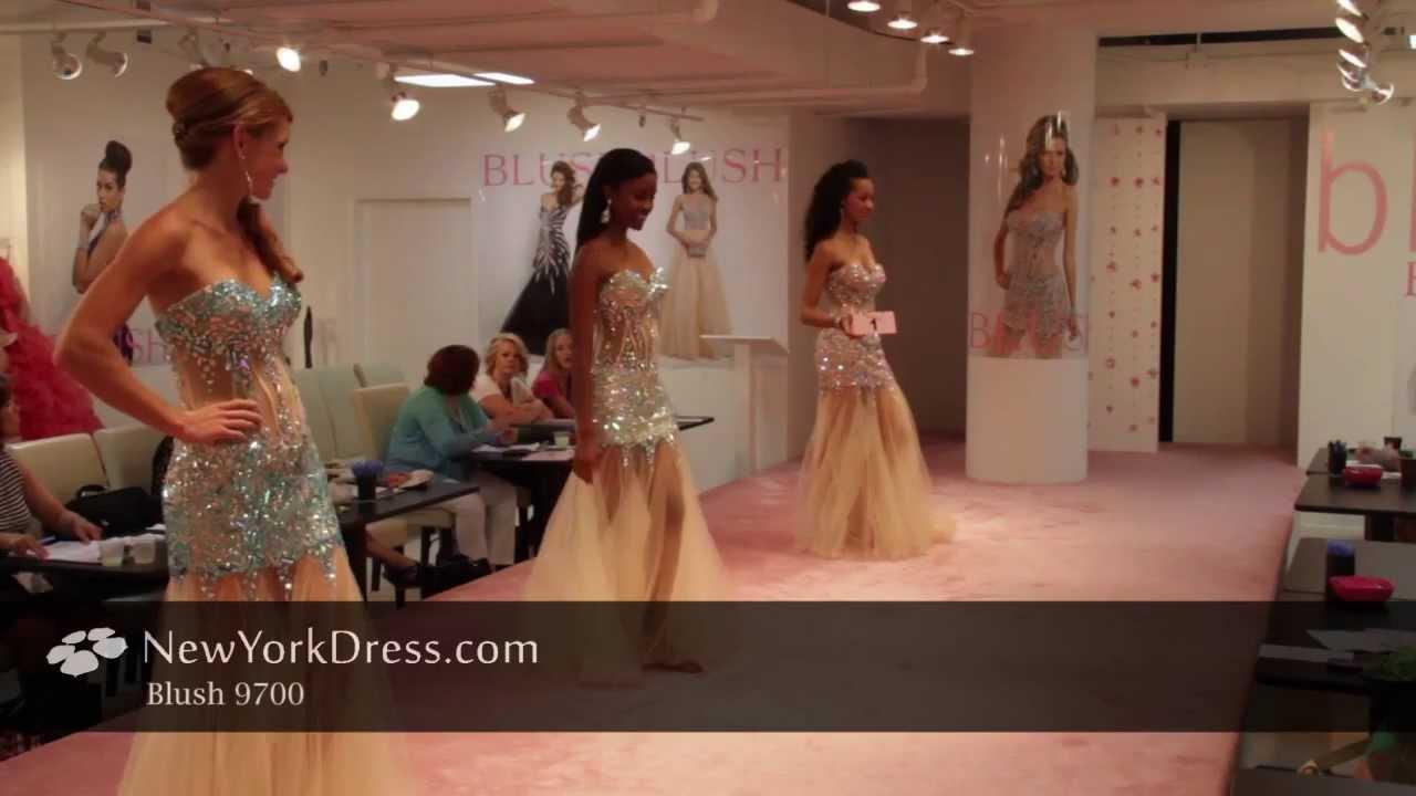 ab5fc3afea1 Blush 9700 Dress - NewYorkDress.com - YouTube