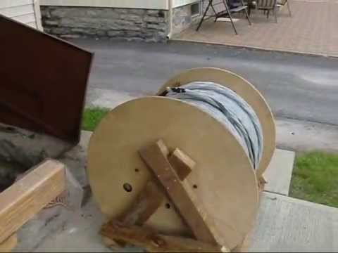 Building Wood Wire Reel 6 24 13 - YouTube