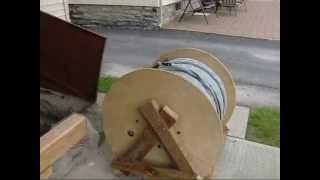 Building Wood Wire Reel  6 24 13