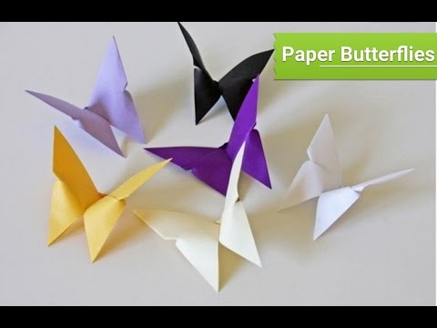How To Make A Paper Butterfly Step By Very Easy Diy Crafts For Kids