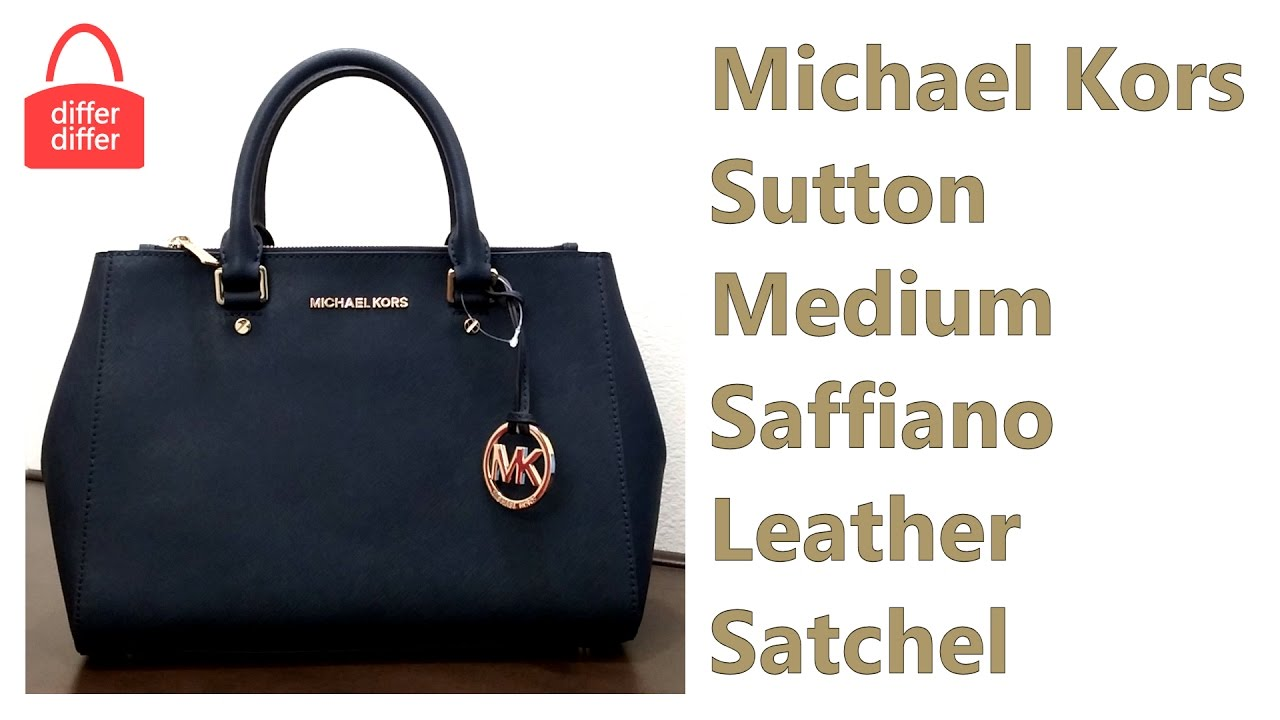 Michael Kors Sutton Medium Saffiano Leather Satchel 30s4gtvs6l
