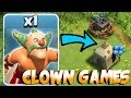 CLOWN GAMES RETURNS!!! | Clash Of Clans | TROLL W/ GIANT CANNON!