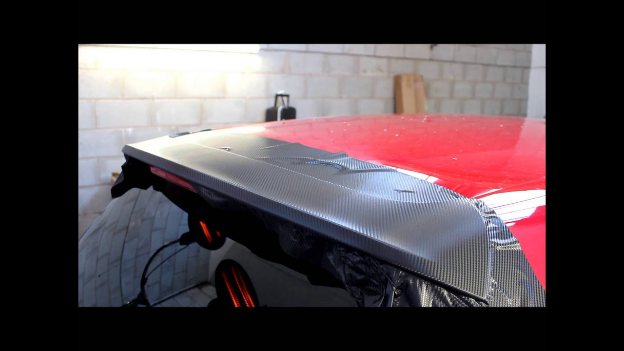 Golf Gtd Spoiler 3m Carbon Wrap Youtube