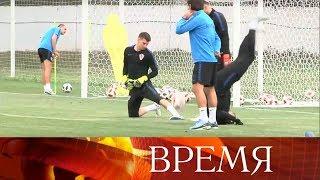 Российская сборная провела первую открытую тренировку после победы над Испанией.