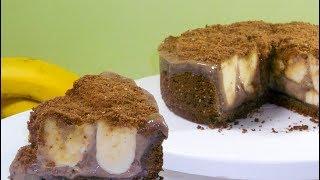 🍌Бананово-шоколадный торт без духовки