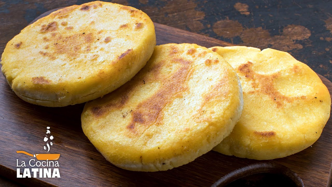 Colombian Arepas - Arepas stuffed with Cheese - YouTube