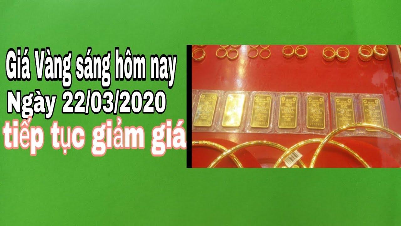 Giá Vàng Hôm Nay ngày 22/03/2020-Vàng giảm liên tiếp, bình ổn giá trở lại