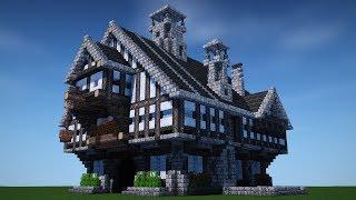minecraft medieval mansion timelapse tutorial speedbuild upgrades build