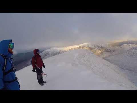 Winter ascent of Larven(ladhar bheinn) Knoydart.