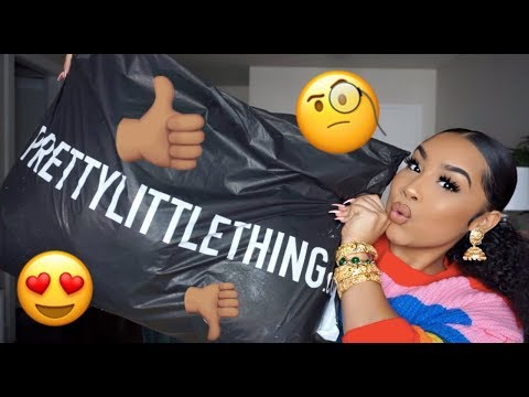 IM READY FOR SPRING!! PRETTY LITTLE THING TRY-ON HAUL   TheAnayal8ter