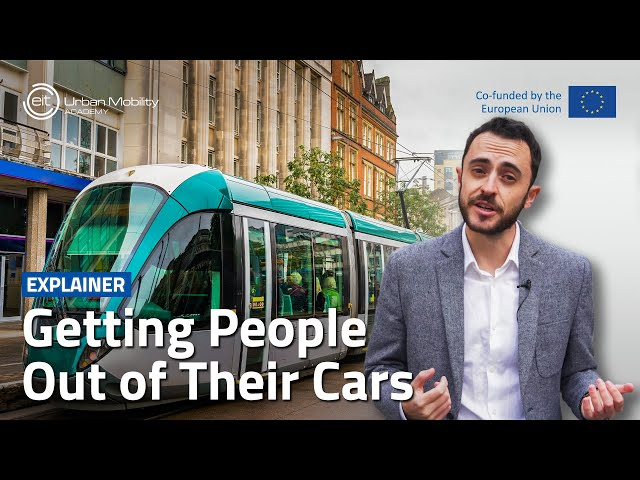 How can cities shift people to more sustainable transport?