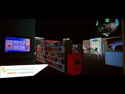 ACD - Adelaide City library Walkthrough Art Show (night)