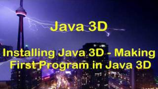 [HD] Java 3D Swing Tutorial  - Installing Java 3D & First 3D GUI Program