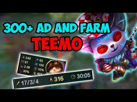 300+ AD and FARM TEEMO CARRIES THE GAME