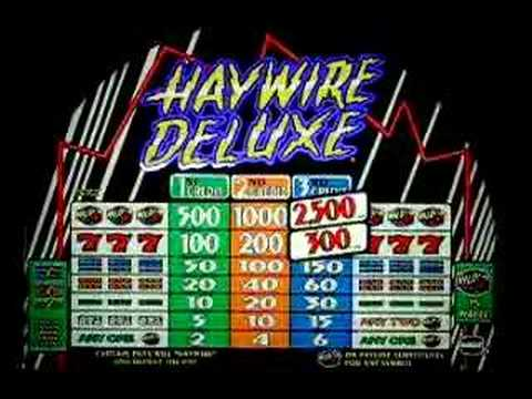 Haywire deluxe slot machine gambling casinos near pigeon forge tn