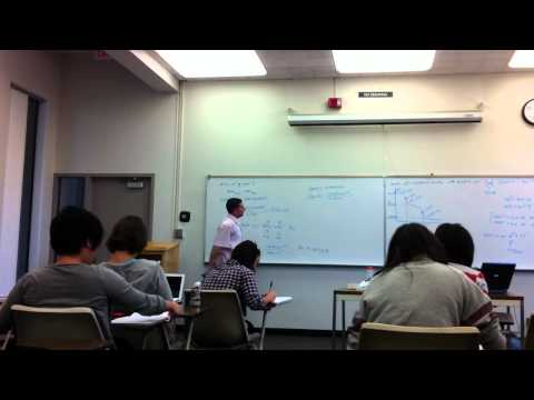 Analytical Chemistry Lecture at the University of California, Irvine.