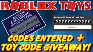 Roblox Serie 2 Spielzeug-Codes eingegeben und kostenlos TOY CODE GIVEAWAY! (FERTIG)