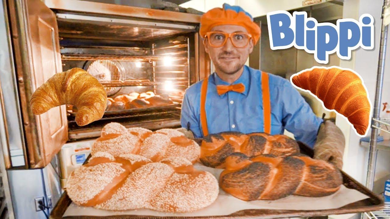 Blippi Visits a Bakery | Blippi Songs | Learn Healthy Eating for Children | Moonbug Kids 🥐